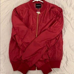 Jackets & Blazers - Red zip-up bomber jacket
